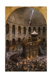The Sacred Fire of Jerusalem Giclee Print by Eugene Alexis Girardet