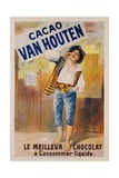 Circa 1900 French Poster for Cacao Van Houten Giclee Print
