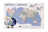 Imperial Airways Poster Giclée-tryk af James Gardner