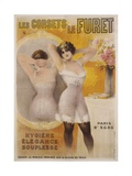Les Corsets Le Furet Poster Giclee Print by Gaston Noury