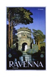 Ravenna Travel Poster Giclee Print by Attilio Rauaglia