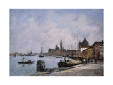 Venice, the Wharf of the Giudecca Giclee Print by Eugène Boudin
