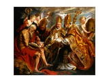 The Four Doctors of the Church Giclée-Druck von Jacob Jordaens