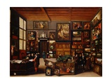 Cognoscenti in a Room Hung with Pictures Attributed to Hieronymus Francken Giclee Print