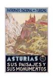 Asturias Sus Paisa Jes Y Sus Monumentos Poster Giclee Print