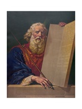 Moses with the Ten Commandments Giclee Print