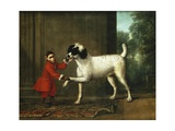 A Monkey Wearing a Crimson Livery Dancing with a Poodle on the Terrace of a Country House Giclee Print by John Wootton