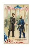 Meeting of President Lincoln and Gen'l Grant Postcard Giclee Print