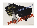 Production - America's Answer! Poster Giclee-vedos tekijänä Jean Carlu