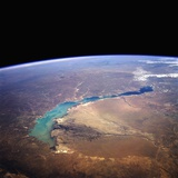 Lake Balkhash Seen from Space Photographic Print