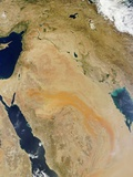 Satellite View of the Middle East Photographic Print