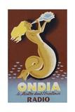Ondia Radio Poster Impression giclée