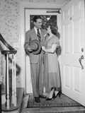 Posed Photo of Domestic Bliss, 1950 Photographic Print by Philip Gendreau