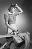 Woman Hard at Work Ironing Photographic Print by Philip Gendreau