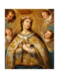 Coronation of the Virgin Giclee Print by Jose De Paez