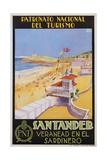Santander Veranead En El Sardinero Poster Impression giclée