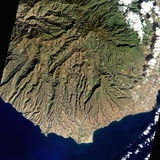 Satellite View of Gran Canaria, in the Canary Islands Photographic Print