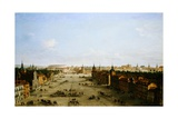 View of the Calle De Alcala Giclee Print by Antonio Joli