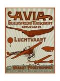 Avia Geillustreerd Tijdschrift Poster Giclee Print