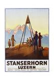 Stanserhorn Luzern Poster Giclee Print by Ernst Hodel