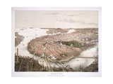 Boston - Bird's Eye View from the North Giclee Print