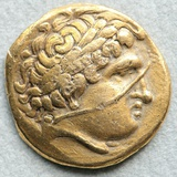 Gold Coin with Head of Apollo Photographic Print