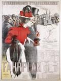 Strassburger Strassenbahnen Fahrplan Poster Photographic Print