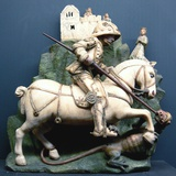 Sculpture of Saint George Slaying the Dragon Photographic Print