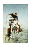 Bronco Rider Giclee Print by William Herbert 'Buck' Dunton