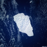 Giant Iceberg Seen from Space Photographic Print