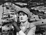 1940s Rosie the Riveter Reproduction photographique