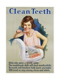 Clean Teeth Poster Giclee Print