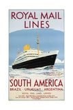 Royal Mail Lines to South America Poster Giclee Print by  Jarvis