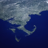 Cape Cod from Space Shuttle Atlantis Photographic Print