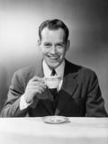 Man Drinking Tea Fotografie-Druck von Philip Gendreau