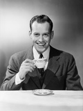 Man Drinking Tea Photographic Print by Philip Gendreau