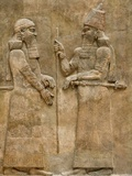 Assyrian Low-Relief of Sargon II and Dignitary Photographic Print
