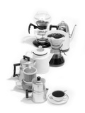 1970s Variety of Coffee Pots Single Coffee Cup Photographic Print by L. Fritz