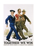 Together We Win Poster Giclee Print by James Montgomery Flagg