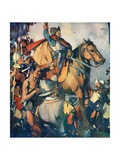 Hernando De Soto Discovering the Mississippi Giclee Print