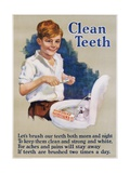 Clean Teeth Toothpaste Poster Giclee Print