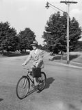 Business Man Riding Bicycle Photographic Print by Philip Gendreau