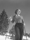 Woman Modelling Ski Clothing Photographic Print by Philip Gendreau