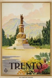 Trento Travel Poster Photographic Print