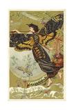 Atropos Acherontia, Solanum Dulcamara, Eau Des Carmes Boyer Perfume Victorian Trade Card Giclee Print