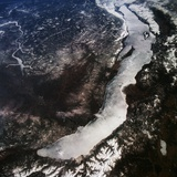 Lake Baikal from Space Photographic Print by Jay Apt