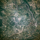 St. Louis and the Mississippi River Photographic Print