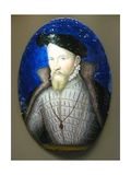 Portrait of Henry II Giclee Print by Leonard Limosin