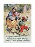 Uncle Wiggily's Picture Book Illustration with Hippopotamus and Hare Giclee Print by Lansing Campbell