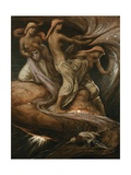 The Fates Gathering in the Stars Giclee Print by Elihu Vedder
